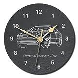 Notts - Reloj de pizarra con diseño de Jaguar X, personalizable con texto de tu elección, Large (250mm)