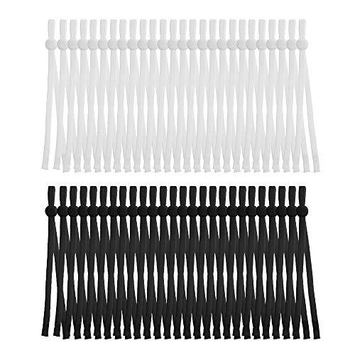 IUAQDP Sewing Elastic Band Cord with Adjustable Buckle Stretchy Earloop Lanyard Earmuff Rope DIY Mask Making Supplies,120 Pcs