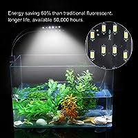 植物育成ランプ、プラスチック製水族館ライト 一時的なランプ用 水族館用 繁殖用 室内照明用 水族館用 室内照明用 水生植物用 植物育成用