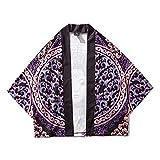RHH Shop Impresión Japonesa del Dragón Chino Koi Kimono del Traje De La Manga De Siete Puntos (Color : 7048, Size : L)