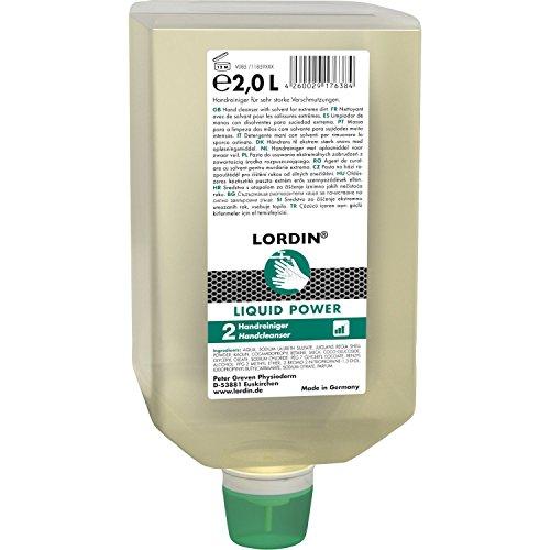 Peter Greven Handwaschpaste | LORDIN Liquid Power | Waschsand | 2 l Faltflasche