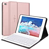 Keyboard Case Compatible with iPad Mini 5/4/3/2/1,Boriyuan iPad mini Case with Detachable Keyboard,Soft