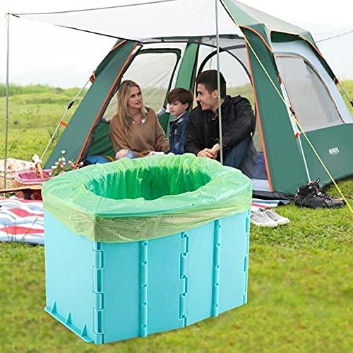 Delisouls WC portatile pieghevole pieghevole WC WC WC per bambini, conveniente secchio WC per campeggio escursionismo viaggi