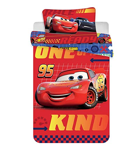 Jerry Fabrics Bettwäsche-Set 100x135 + 40x60 - Disney Cars
