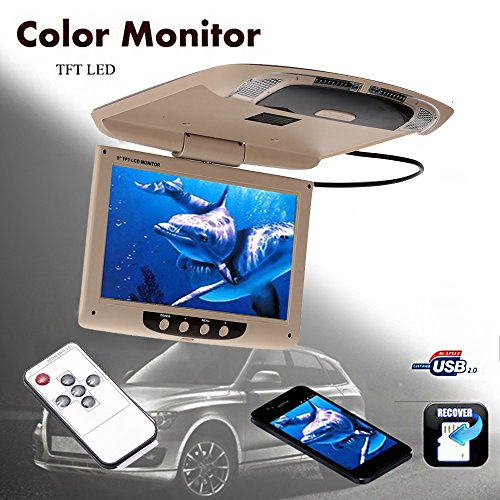 TOPmountain - Display per Auto Monitor per Auto Display per Montaggio a soffitto Universale a soffitto TFT-LCD