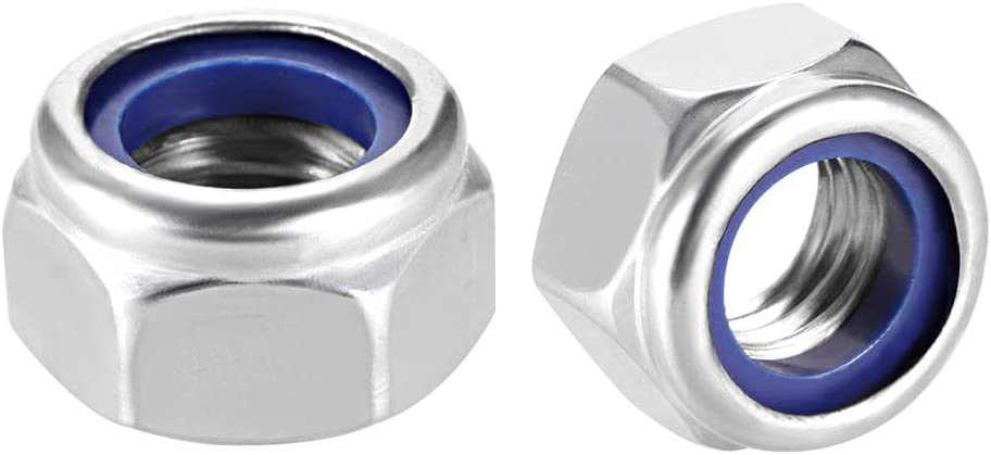 Limited time sale uxcell M12 x 1.75mm Nylon Insert 304 Stainless 2021 Hex Lock Nuts St