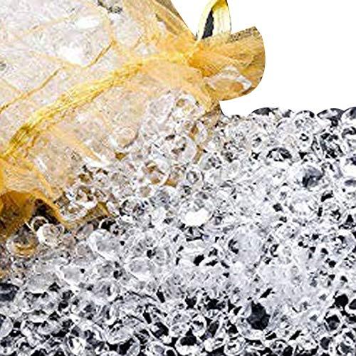 Camisin 6000 piezas de diamantes acrílicos transparentes para decoración de mesa de decoración de jarrones de Navidad, boda, cumpleaños, fiesta, mesa, B