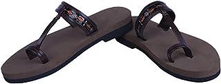 Panlin Orthopaedic & Diabetic Footwear : Slipper For Ladies (Leather & MCP):L1-BR-5