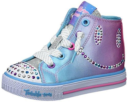 Skechers Kids Girls' Shuffles-Sparkle Smile Sneaker,multi,5 Medium US Toddler