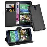 Cadorabo Hülle für HTC Desire 620 in Phantom SCHWARZ - Handyhülle mit Magnetverschluss, Standfunktion & Kartenfach - Hülle Cover Schutzhülle Etui Tasche Book Klapp Style