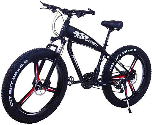 Bicicleta eléctrica con neumáticos gordos de 26 pulgadas 48V 10Ah / 15Ah Batería de litio de gran capacidad City Bicicletas eléctricas para adultos 21/24/27/30 Velocidades Bicicleta de montaña eléctri