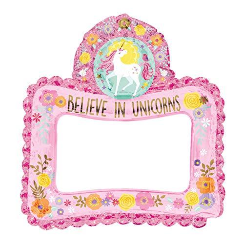 anagram balón de papel de aluminio Selfie Frame 66x 68cm Magical Unicorn, Cobre, 7a110477-01