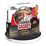 Smoker Chef Smoker Gasket – 0.6'' Wide 0.2'' Thick High Temp Seal Grill Gasket – 17 FT Long Self Stick Black Nomex Tape Gaskets for Smokers and BBQ Lid – Heat Seal Material Replacement