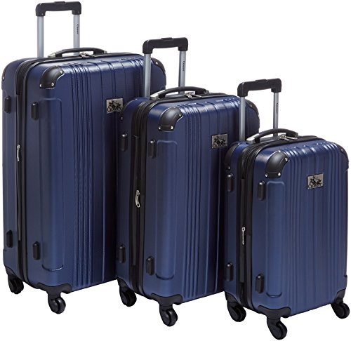 Chariot Monet 3-piece Hardside Expandable Lightweight Spinner Luggage Set-Navy, One Size