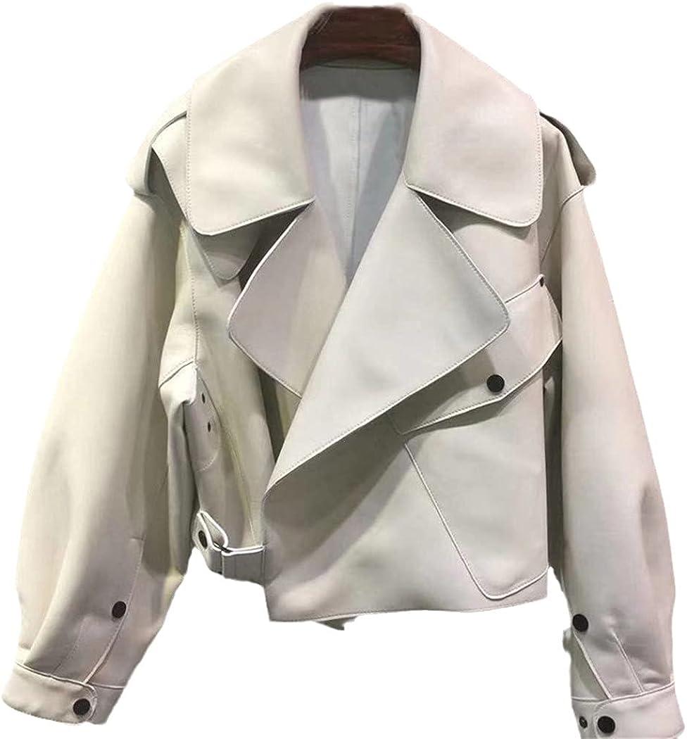 Women Faux Leather Jacket, Loose Vintage Biker Coat, Short Pockets Motor PU Black Jacket, Autumn Street Leather Coat