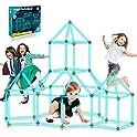 9IUoom 120-Piece Glow in The Dark Fort Building Kit for Kids