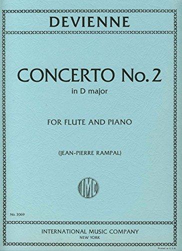 Partitions classique IMC DEVIENNE F. - CONCERTO N°2 EN RE MAJ. - FLUTE ET PIANO Flûte traversière