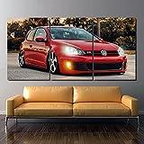 Wohnkultur Modulare Leinwand Bild Red Luxury VW Golf MK6