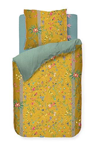 Pip Bettwäsche-Garnitur Petites Fleurs Farbe Gelb Yellow Größe 135x200+80x80cm