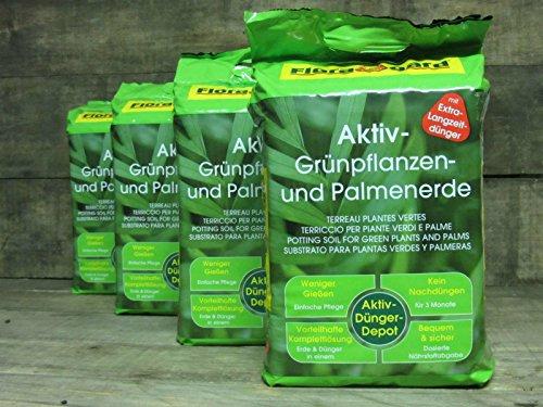 Floragard Aktiv Grünpflanzen & Palmenerde, 80L (4x20L)