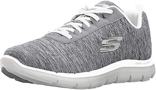 Skechers Women's Flex Appeal 2.0 Gray-37 Sneaker 10 W US