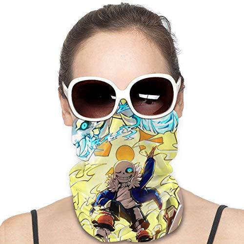 Yellowbiubiubiu - Bufanda de dibujos animados Undertale Sans Variedad Turbante, protección contra el polvo, para hombres y mujeres, funda para cuello, polainas para verano, ciclismo, senderismo, pesca, deportes al aire libre