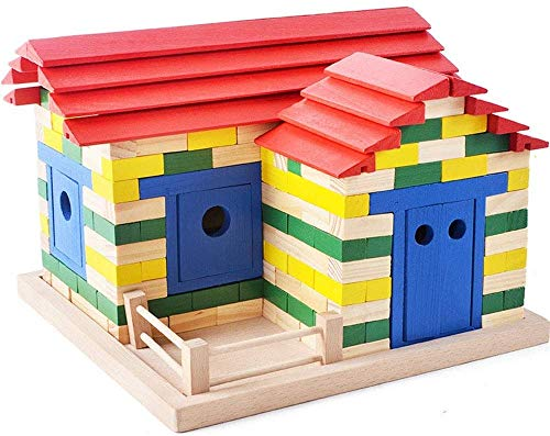 Ladan Bois Bricolage Jouets Intéressant Blocs de Construction, Couleur for Enfants Brique Creative Enfants Bloc Puzzle Toy éducation à l'enfance Lumières