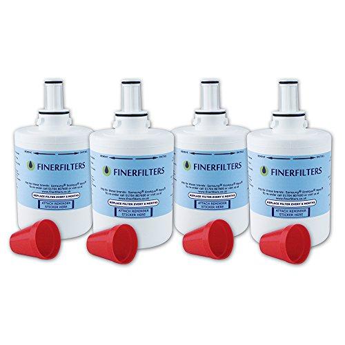 4 x Finerfilters Compatible Samsung Aqua Pure Plus Fridge Water Filter DA29-00003 Fits B F Or G Version