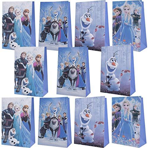 Bolsas Regalo Papel, Tema de Frozen Bolsas de Fiesta de Regalo Ambiental para Navidad Regalo, Dulces, Galletas, niños Fiestas, Boda, Cumpleaños