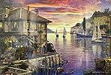 Puzzle de 1000 Piezas para Adultos- Mediterranean, Obra de Arte de Juego de Rompecabezas para Adultos, Adolescentes, Rompecabezas de Piso de Impresión de Alta Definición Multicolor (70x50cm)