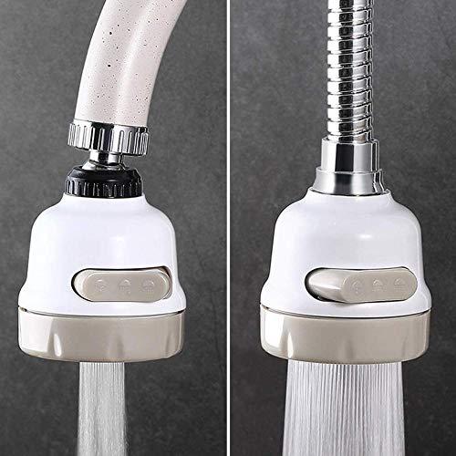 Tap extender aireador de 3 modos, agua del grifo, filtro de ahorro de agua, boquilla de pulverización de alta presión, difusor de aireación flexible giratorio de 360 grados (color: JJ25