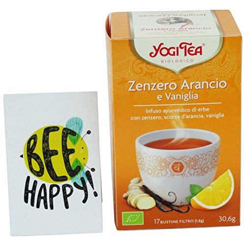 YOGI TEA - Infusión de Jengibre Orgánico, Naranja, Vainilla - Calentamiento Herbal Ayurvédico para el Cuerpo y Mente - 17 filtros