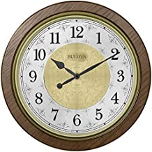 Bulova C4115 Manchester Chiming Wall Clock, Warm Walnut