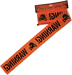 Halloween Warning Tape Signs Trendy Plastic Decor Window Prop Home Zone Caution Danger Isolation Belt Trick Treat Event Warning Biohazard Hazard Sign Hazard Labels for Kids Haunted House Decoration