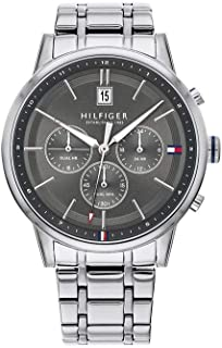 Tommy Hilfiger 1791632 Stainless Steel Round Analog Water Resistant Watch for Men - Silver