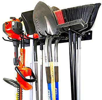 StoreYourBoard BLAT Tool Storage Rack Garage Wall Mount Organizer Heavy-Duty Solid Steel Max 200 lbs Holds Garden Tools Shovels Rakes Brooms Cords Hoses Ropes and More
