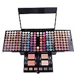 PhantomSky 180 Colores Sombra De Ojos Paleta de Maquillaje Cosmética con Ceja Polvos Prensados, Polvo y Rubor - Perfecto para Uso Profesional y Diario