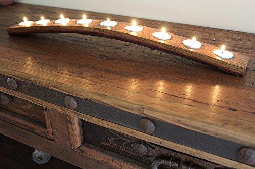 oak wine barrel table - 2