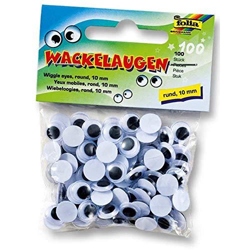 ROOYA BABY Selbstklebend Wackelaugen Bastelaugen Klebeaugen,200 Stück Wiggle Googly Augen Kunststoff Puppe Augen Kulleraugen für DIY Scrapbooking Handwerk,