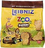 LEIBNIZ ZOO Safari im 12er Pack (12 x 100 g)— Mini-Butterkekse mit Schokolade in der Großpackung — Schokokekse für Kinder in der Vorrats-Box