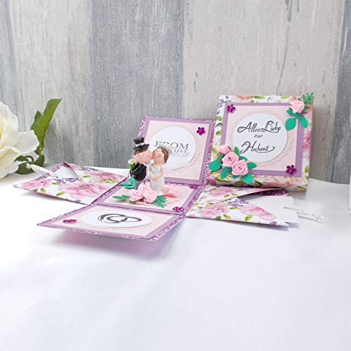 Explosionsbox Hochzeit, Explosionsbox, Hochzeitsgeschenk, Geldgeschenk Hochzeit, rosa