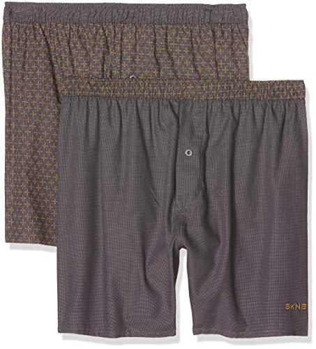 Skiny Herren Men Boxer Shorts 2er Pack Boxershorts, Mehrfarbig (Cross Selection 1674), X-Large