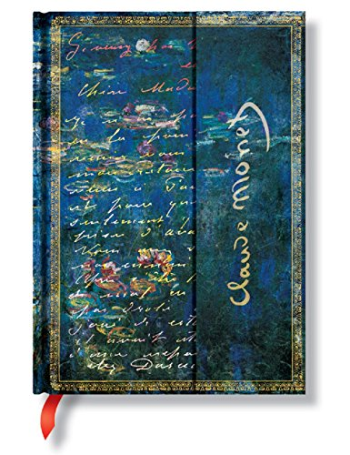 Paper blank notebook Monet water lily B6 borders PB1209-2