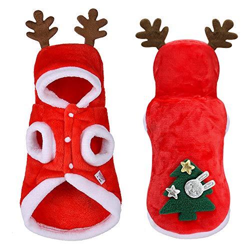 Weihnachten Hunde-Bekleidung Kleine Hunde Santa Anzug für Mops Chihuahua Yorkshire Haustier-Katzen-Kleidung Jacken-Mantel-Haustier-Kostüm