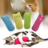 Bark and Purr Plush Cat/kitten <span class='highlight'>Toy</span>, <span class='highlight'>Chew</span>ing vocal <span class='highlight'>toy</span>, Teeth Grinding, cat mint for <span class='highlight'>cats</span>, Assorted Colours, pack of 3, Size 4 cm W 9.5 cm L, Shape Thumb Cat
