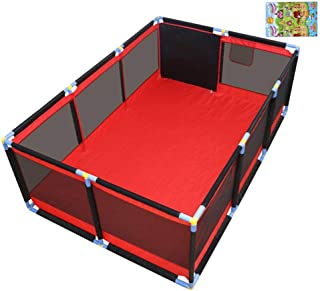 CXHMYC Baby playpen large safety barrier Activity center Indoor Outdoor area Breathable play area  with protective mat  190x128x66cm