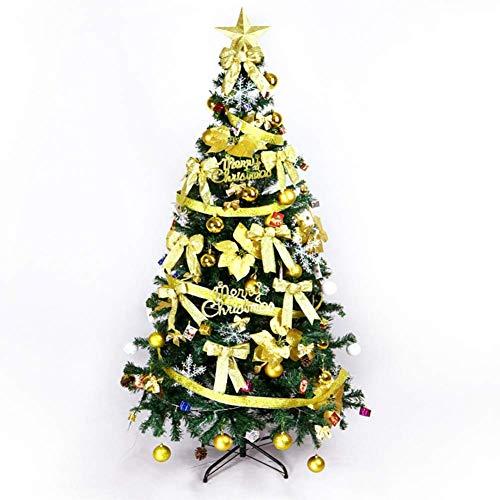 HX Easy Assembly Arbre De Noël Artificiel, 180 5,9 Ft Grand Vert Articulé en Métal Solide Jambes Arbre De Noël Luxueux avec Décoration pour L'hôtel Mall,Yellow