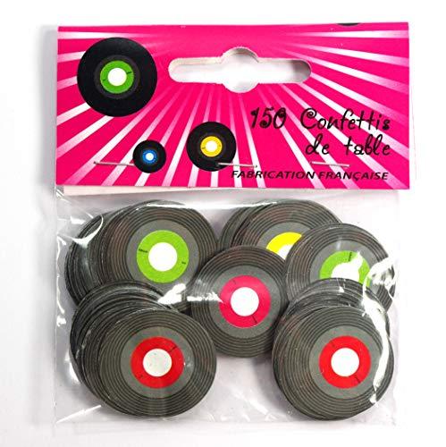 1 Sachet de 150 Confettis de Table Disque Vinyl - 2,5 cm de diamètre - Made in France
