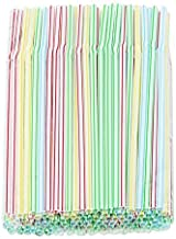 Pack of 150 Classic Flexible Straws - Assorted Colors