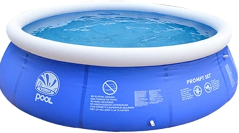 家族の膨脹可能なプールの大人の子供のための特大円形の庭の屋外の携帯用厚く漕ぐプール,青-300*76cm